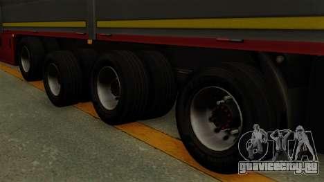 Flatbed3 Red для GTA San Andreas вид сзади слева