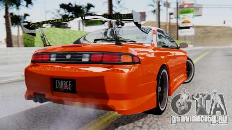 Nissan Silvia S14 (240SX) Fast and Furious для GTA San Andreas вид слева