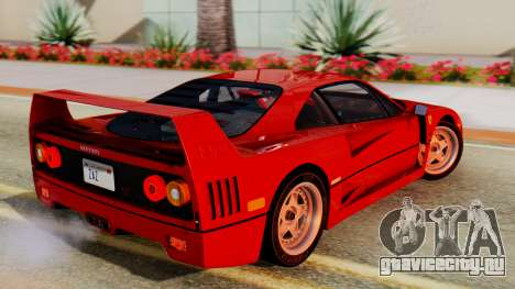 Ferrari F40 1987 with Up Lights для GTA San Andreas вид слева