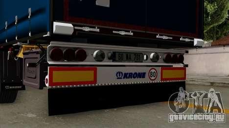 Trailer Krone Profiliner v2 для GTA San Andreas вид справа