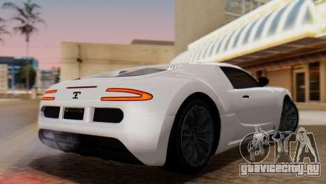 GTA 5 Adder Tire Dirt для GTA San Andreas вид слева
