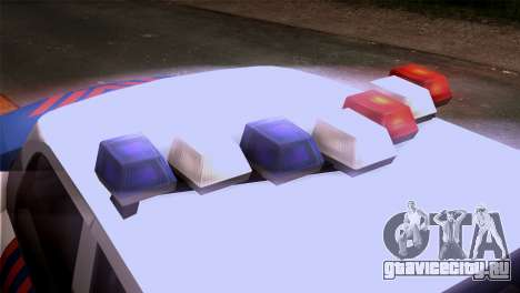 Indonesian Police Type 2 для GTA San Andreas вид сзади