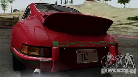 Porsche 911 Carrera RS 2.7 Sport (911) 1972 IVF для GTA San Andreas вид сзади