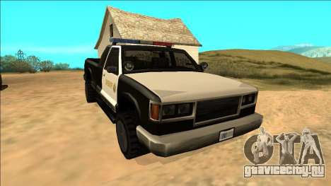 New Yosemite Police v2 для GTA San Andreas вид сзади