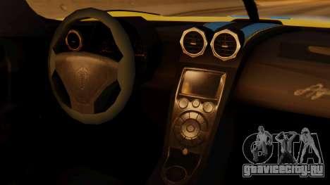 Koenigsegg Agera 2011 для GTA San Andreas вид справа