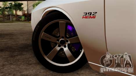 Dodge Challenger SRT8 392 2012 Stock Version 1.0 для GTA San Andreas вид сзади слева