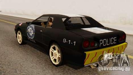Elegy Police Edition для GTA San Andreas вид слева