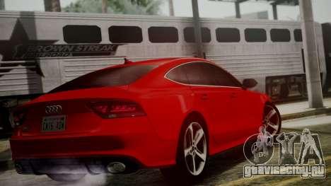 Audi RS7 2014 для GTA San Andreas вид слева