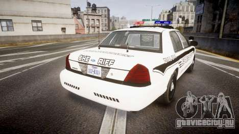 Ford Crown Victoria 2008 New Alderney Sheriff для GTA 4 вид сзади слева