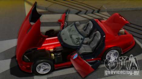Dodge Viper RT-10 1992 для GTA San Andreas вид сверху