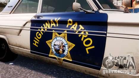Ford Fairlane 1964 Police для GTA 4 вид сзади
