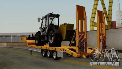 Trailer Fliegl Cargo для GTA San Andreas вид слева
