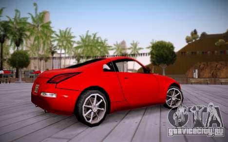 Nissan 350Z SA Style для GTA San Andreas вид сзади слева