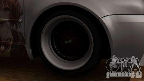 Volkswagen Golf R32 JDM Itasha для GTA San Andreas вид сзади слева