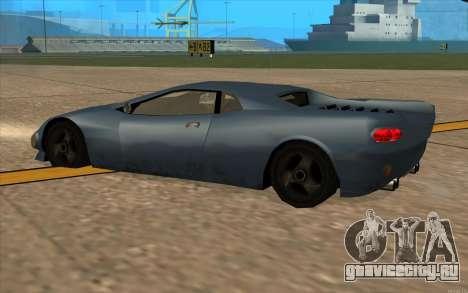 GTA 3 Infernus SA Style v2 для GTA San Andreas вид сзади