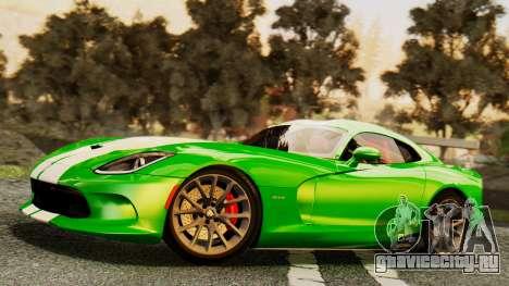 Dodge Viper SRT GTS 2013 IVF (MQ PJ) HQ Dirt для GTA San Andreas колёса