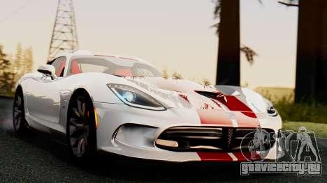 Dodge Viper SRT GTS 2013 IVF (MQ PJ) HQ Dirt для GTA San Andreas вид справа