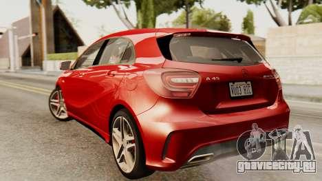 Mercedes-Benz A45 AMG 2012 для GTA San Andreas вид слева