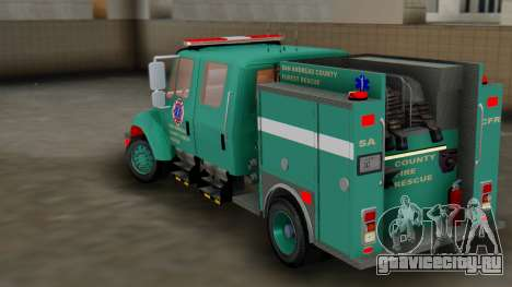 SACFR International Type 3 Rescue Engine для GTA San Andreas вид сзади слева