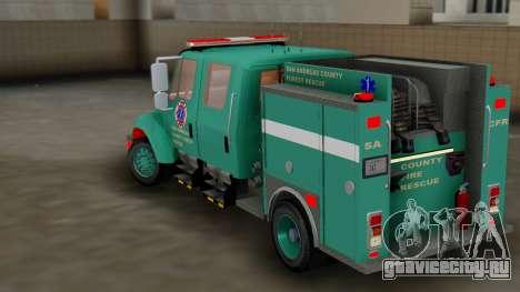 SACFR International Type 3 Rescue Engine для GTA San Andreas вид сзади слева