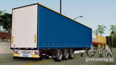 Trailer Krone Profiliner v1 для GTA San Andreas вид слева
