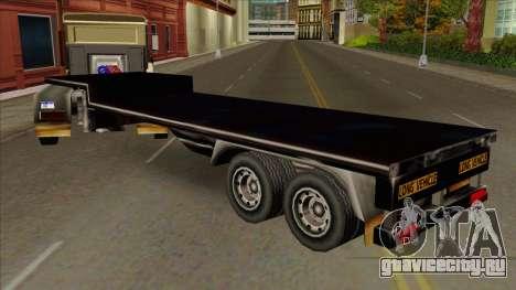 Flat Trailer для GTA San Andreas