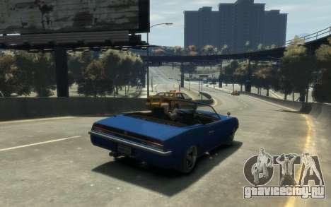 Declasse Vigero Cabrio для GTA 4 вид сзади