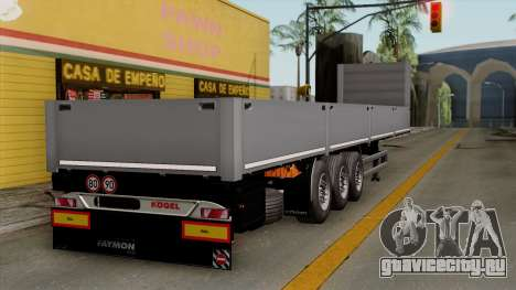 Trailer Kogel для GTA San Andreas вид слева