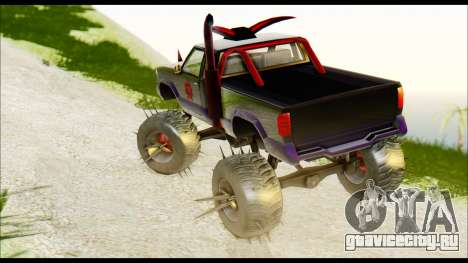 Predaceptor Monster Truck (Saints Row GOOH) для GTA San Andreas вид слева