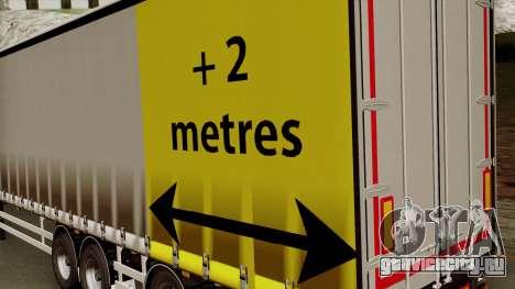 Trailer 15 meters для GTA San Andreas вид сзади