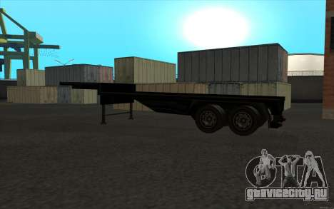 Flat Trailer для GTA San Andreas вид справа