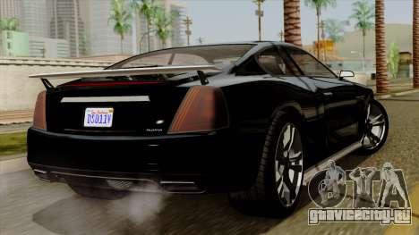 GTA 5 Albany Alpha v2 IVF для GTA San Andreas вид слева