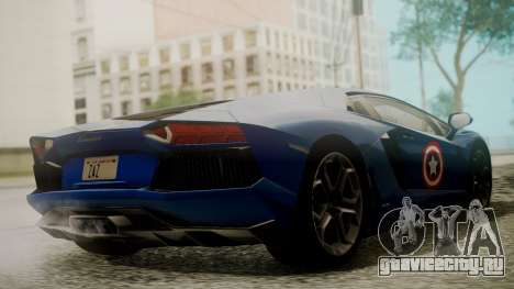 Lamborghini Aventador LP 700-4 Captain America для GTA San Andreas вид изнутри