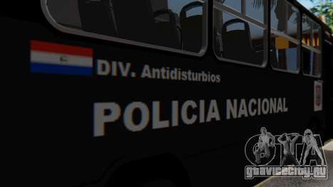 Mercedes-Benz Neobus Paraguay National Police для GTA San Andreas вид изнутри