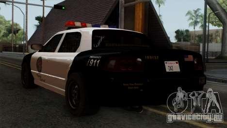 GTA 5 LS Police Car для GTA San Andreas вид слева