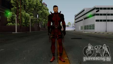 Deadpool without Mask для GTA San Andreas второй скриншот