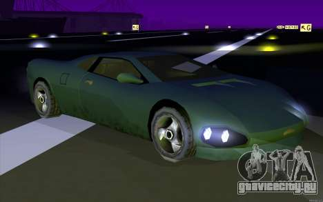 GTA 3 Infernus SA Style v2 для GTA San Andreas вид сзади слева