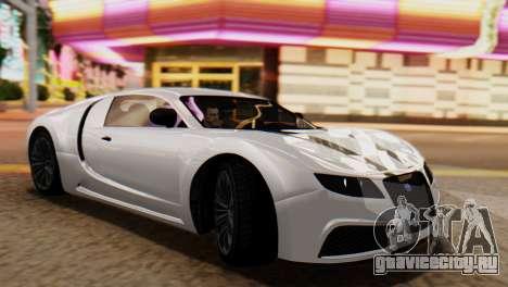 GTA 5 Adder Tire Dirt для GTA San Andreas вид сзади слева