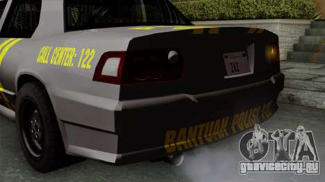 Indonesian Police Type 1 для GTA San Andreas салон