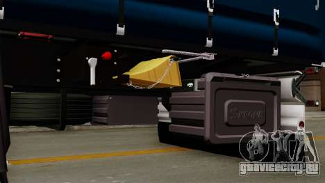 Trailer Krone Profiliner v2 для GTA San Andreas вид сзади
