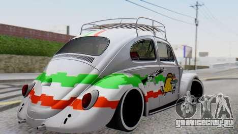 Volkswagen Beetle Vocho Nyan Cat V Mexicano для GTA San Andreas вид слева
