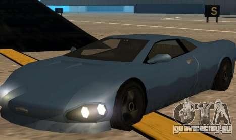 GTA 3 Infernus SA Style v2 для GTA San Andreas вид слева