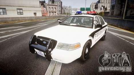 Ford Crown Victoria 2008 New Alderney Sheriff для GTA 4