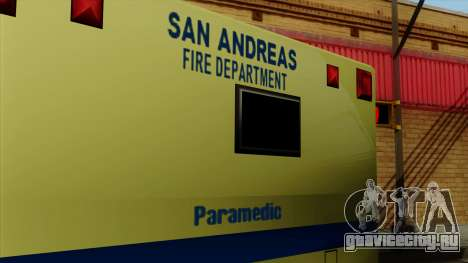 SAFD SAX Rescue Ambulance для GTA San Andreas вид справа