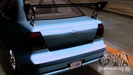 GTA 5 Declasse Asea IVF для GTA San Andreas вид изнутри