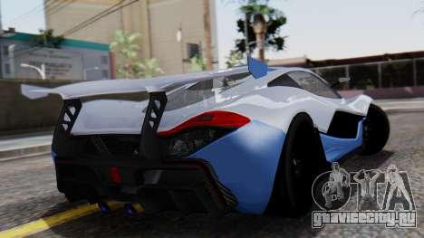 Progen T20 GTR для GTA San Andreas вид слева