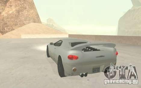 GTA 3 Infernus SA Style v2 для GTA San Andreas вид сбоку
