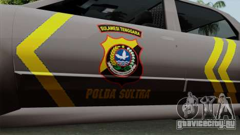 Indonesian Police Type 1 для GTA San Andreas вид справа