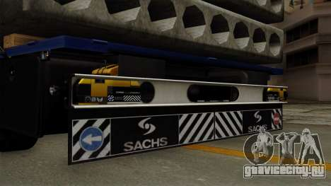 Flatbed3 Yellow для GTA San Andreas вид справа