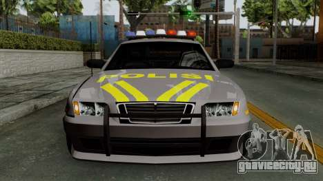 Indonesian Police Type 1 для GTA San Andreas вид сбоку